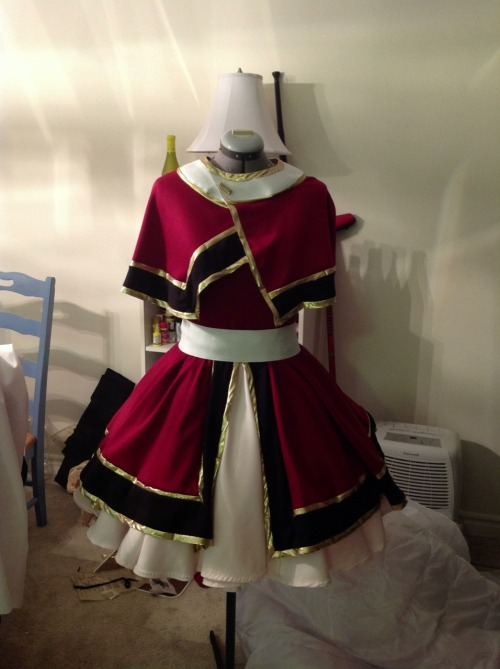 Progress of big costume #2 for Anime North! :) still lots of detail work to do…  anyone know who this is? (Hint: it is also from a clamp series~)