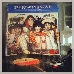 The sweet sound of real music… #beatles #thebeatles #vinyl #vintage #music #ballads #album