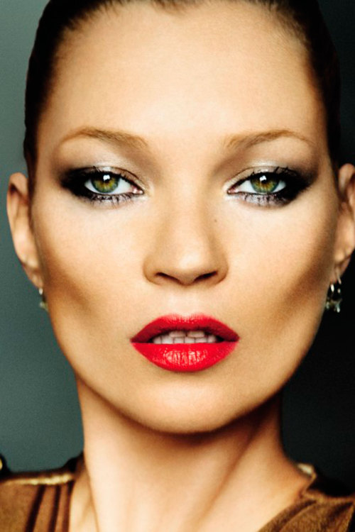 Kate Moss photographed by Mario Testino for the December 2010 issue.