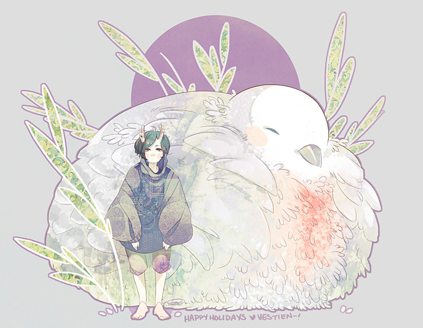 maruti-bitamin:  vestien:   my late SS picture for koyamori (DA/Tumblr). omg I was so intimidated oHo but, i hope you like it cutiepie!! <3 have a lovely holiday (or whats left of it anyway lolol)~! ;w;   I can't stop looking at this. ♥U♥ *dances on the moon*