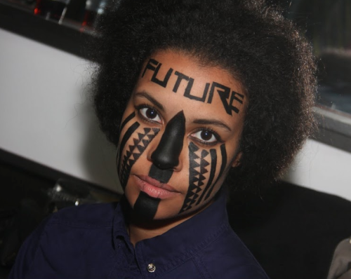 noirnearfuture:    Make up by Nadjma Rahamatali - Cut up collective. pernterlernxshaymiss:    Noir Near Future - Bregje Cox Pic by Yves Molitor http://noirnearfuture.tumblr.com       <3