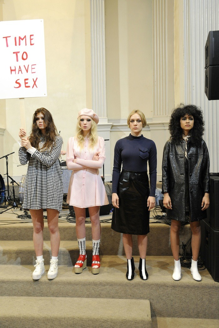 Teenage Riot: Chloe Sevigny's protest-inspired show for Opening Ceremony.