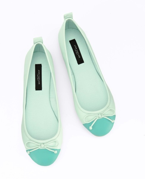 Shanna Colorblock Flats - $68, Ann Taylor I spotted these flats in Ann Taylor the other day, and they are really gorgeous. And they even come in Size 11!