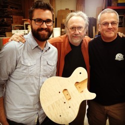 Kindred spirits. Audiofly's Dave Thompson with the men behind GJ2 Guitars, Grover Jackson and Jon Gold. - @audioflyheadphones- #webstagram
