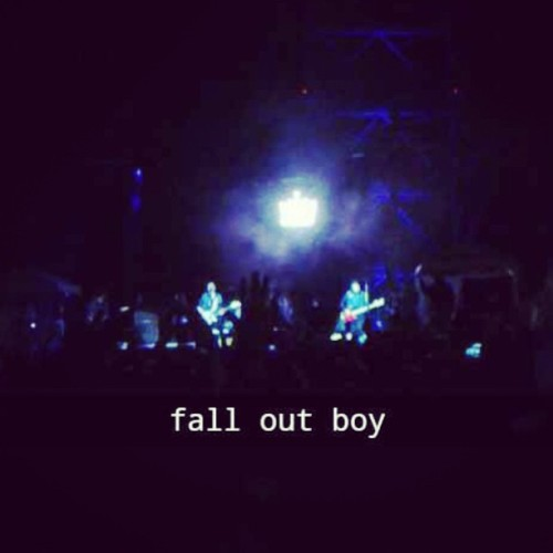 My phone died so I had Kamna send me a snap of Fall Out Boy last night. They were perfect.