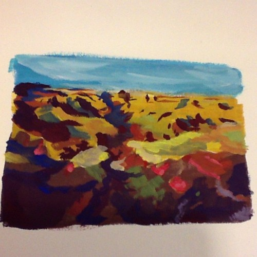 Quick gouache scape #art #artistsoninstagram #gouche