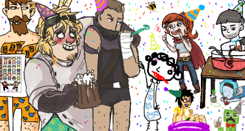 siins:  what our iscribble party spawned UwU  This was fun you guys! /drew the pool party Nilesy conforming to the hairy legs movement