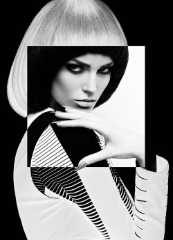 "collections-from-vogue:  Samantha Rayne in ""High Contrast"" Photographed By Chris Nicholls & Styled By Zeina Esmail For Fashion Magazine, May 2013"