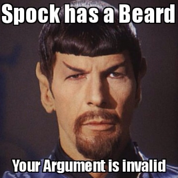superlantern718:  That's it! Lol #startrek #spock #yourargumentisinvalid #meme