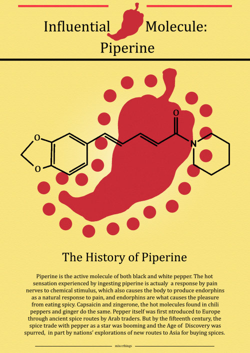 miscethings:  Influential Molecule of the Week: Piperine p.s. Yes, H-D, I'm doing weekly updates just to frustrate you!