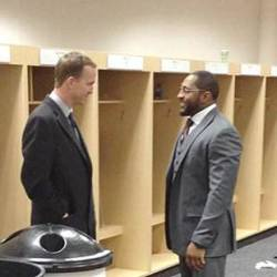 Peyton Manning Ray Lewis Share Moment