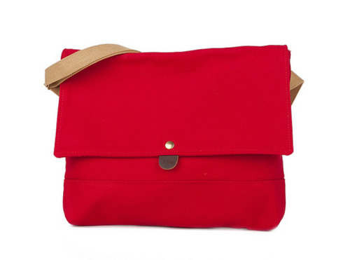 Archival Flap Musette in Carmine Red is calling my name.  Shop Archival Clothing and get 20% off now through April 30th  - use discount code SpringFling!