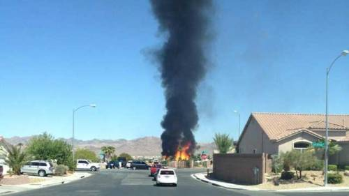BREAKING: Smoke plume rises from apparent house fire in Henderson | read | watch