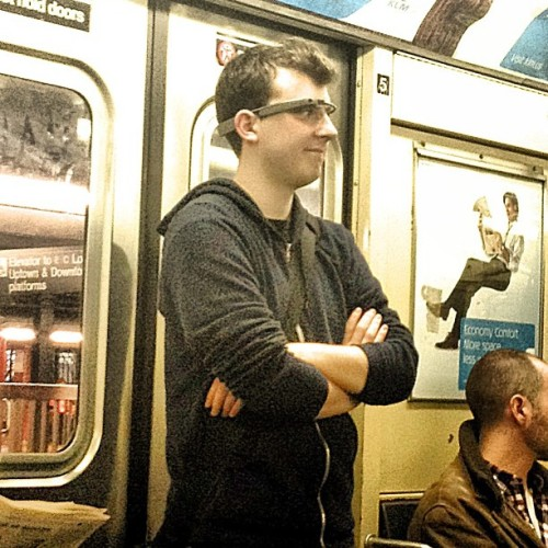 Google Glass spotted on the #NYC subway… (at MTA Subway - 34th St/Penn Station (A/C/E))