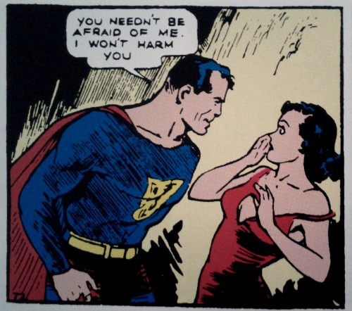Happy 75th birthdays to Superman and Lois Lane!  Panel from Action Comics #1 (1938) by Jerry Siegel and Joe Shuster