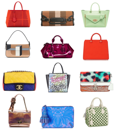 It's still spring so here's some gorgeous must-have handbags that came down the runways at the RTW Spring 2013 shows from New York, London, Milan, and Paris.  So major! First row (left to right): Fendi, Belstaff, Mulberry Second row: Fendi, Burberry Prorsum, Victoria Beckham  Third row: Chanel, Nancy Gonzalez, Kenzo  Fourth row: Lanvin, Anya Hindmarch, Louis Vuitton