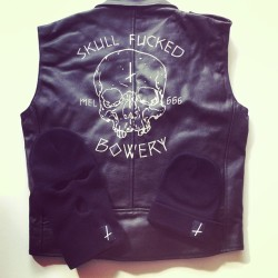 Winter essentials going on the online store tonight. Skull fucked chapter vest.      The Hitcher beanie & Date Night Balaclava.       @sticks_and_stones_agency