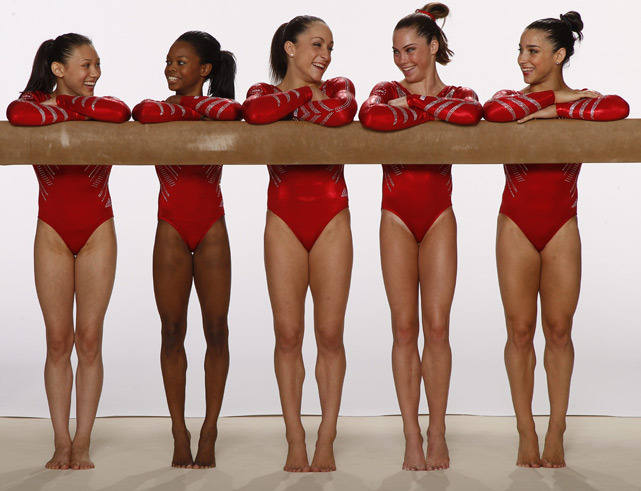 The 2012 U.S. Women's Gymnastics team poses for a photo shoot before the 2012 Olympics. (Peter Read Miller/SI)  GALLERY: Breakout Athletes of 2012