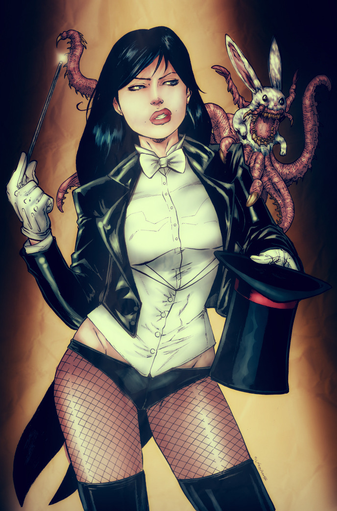 thehappysorceress:  Happy Birthday, Zee! Zatanna by Tim Seeley, color by Chronicle-I Magic Monday