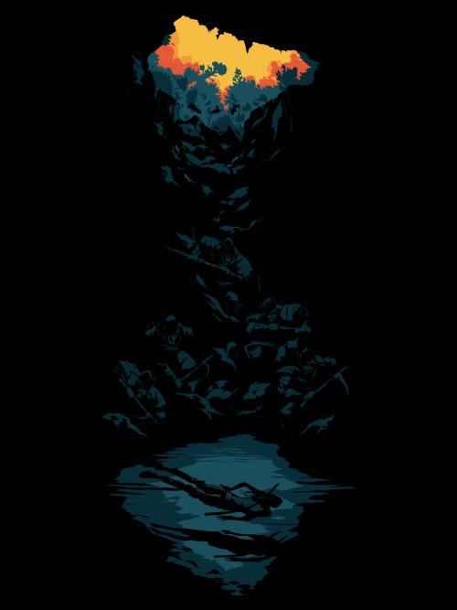 Illustration gaming process artists on tumblr Lara Croft Tomb Raider