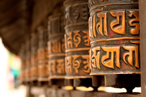 samcrann:  Hindu Prayer Wheels at the Monkey Temple.
