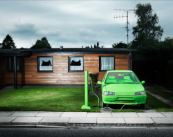 Being eco-conscious in style. Henrik Sorensen creates a totally green automobile.