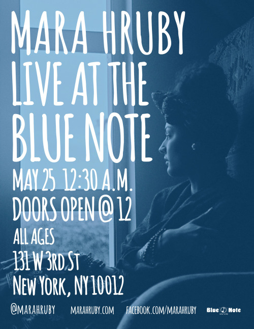 "Mara Hruby Live At Blue Note :: May 25th :: NYC Love & Spring Vibes I am thrilled to be coming back to Blue Note for my second time in one year! I am deeply looking forward to connecting with anyone and everyone that will attend this show. You all will get a special live preview of what's to come on my new EP Archaic Rapture and will gain a better understanding of my Heart & Soul. There was a bit of a confusion last time, so I want to be clear that this show is on a Saturday night. (technically speaking 12:30 am on the 26th) Lend me your hearts, souls, and spirits that night and I promise you wont be disappointed. Buy your tickets for the show HERE  Art Direction & Photo : Rob Lewis To download my EP ""From Her Eyes"" CLICK HERE"
