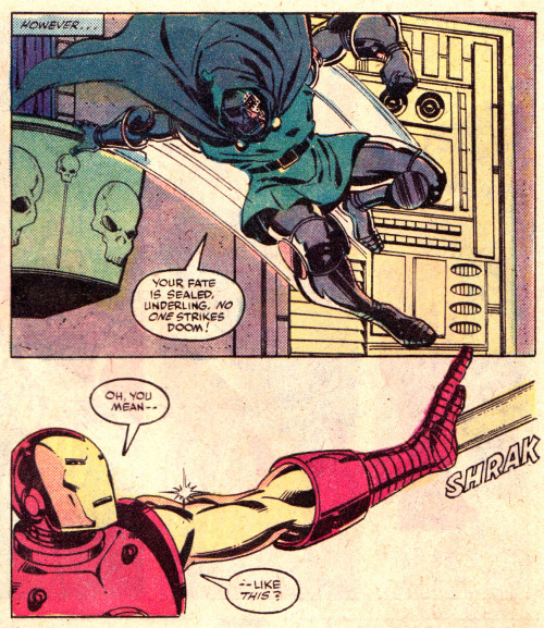 "jthenr-comics-vault:  Iron Man #149 (August 1981)""DOOMQUEST""Art by John Romita Jr. & Bob Layton"