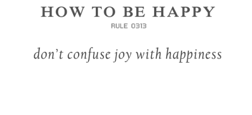 rulestobehappy:  The one is a short-time high, the other is a long-term inner peace. Follow the Rules to be happy