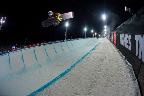 Men's Snowboard SuperPipe coming up next followed by Men's Ski SuperPipe Elims on night two of X Games Tignes! Here is how to tune-in: http://bit.ly/XOC2Yb