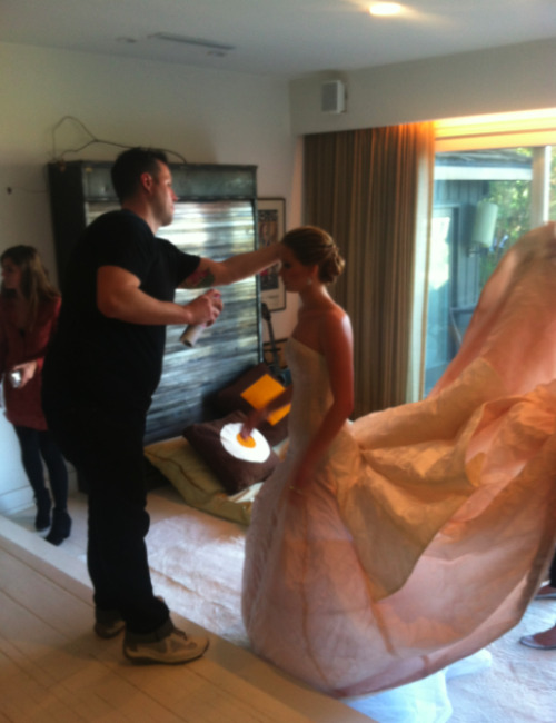 the-absolute-best-posts:  Jennifer Lawrence getting ready for the Oscars   My lovely followers, please follow this blog immediately!