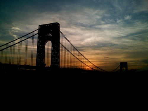 The George Washington Bridge at Dusk
