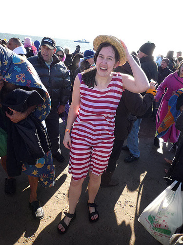 My fourth Polar Bear Swim. This year I made an Olde Timey Costume, and it was absolutely freezing. It was 15F and windy this year, making it the WORST SWIM EVER!
