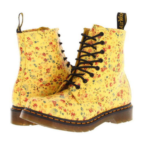 Sport these floral Dr. Martens to give your spring skirt a taste of grunge. Have a fashion woe of your own? Click here to get our advice »
