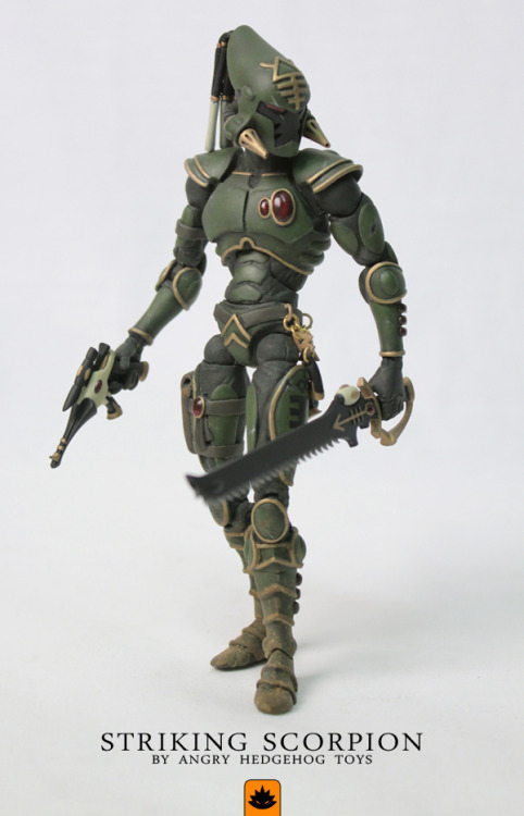 lexicanumwiki:  Unofficial Striking Scorpion Action figure via BoLS:http://angryhedgehogtoys.blogspot.co.uk/2013/03/striking-scorpion-from-warhammer-40000.html
