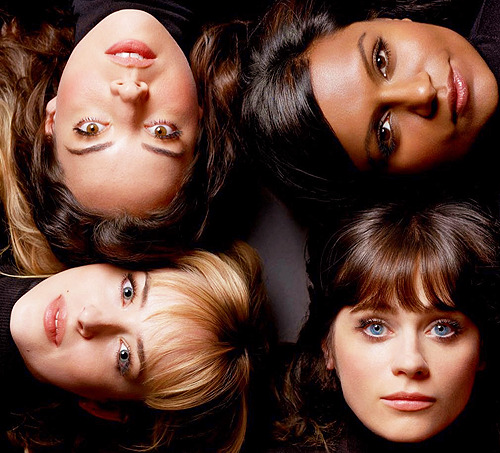 Aubrey Plaza, Mindy Kaling, Zooey Deschanel and Dakota Johnson for Vanity Fair January 2013 — Special All-Star Comedy Issue