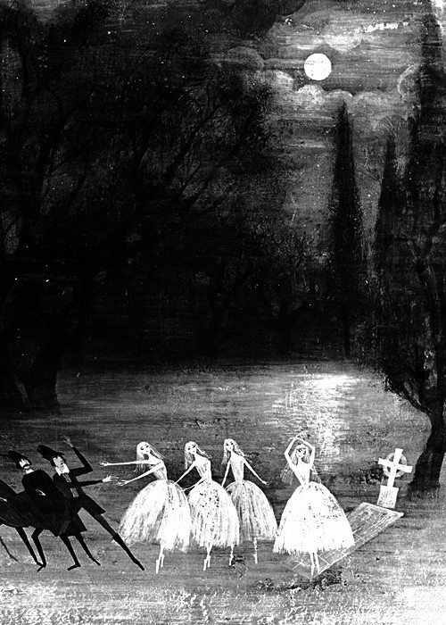 Scary black and white creepy gothic art horror art vintage art