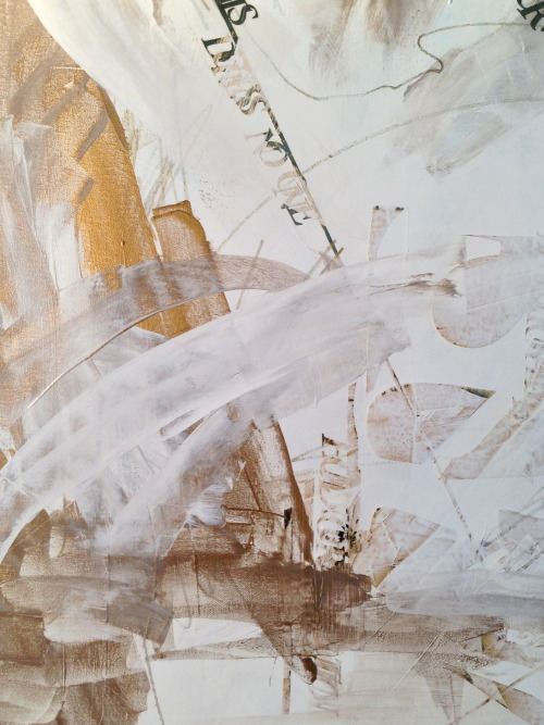 Work in progress! Detail of mixed media painting by Pia Habekost