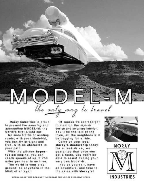 """Moray's Model-M Flying Car""  by: Justin Benzel"