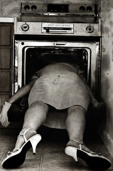 "dadeisdead:  mtalesilk:  Sylvia Plath photographed after committing suicide.  ""Dying is an art, like everything else. I do it exceptionally well"""