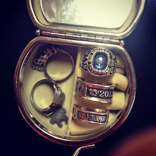 cheer-athletics-panthers:  NCA ring and 2 World rings