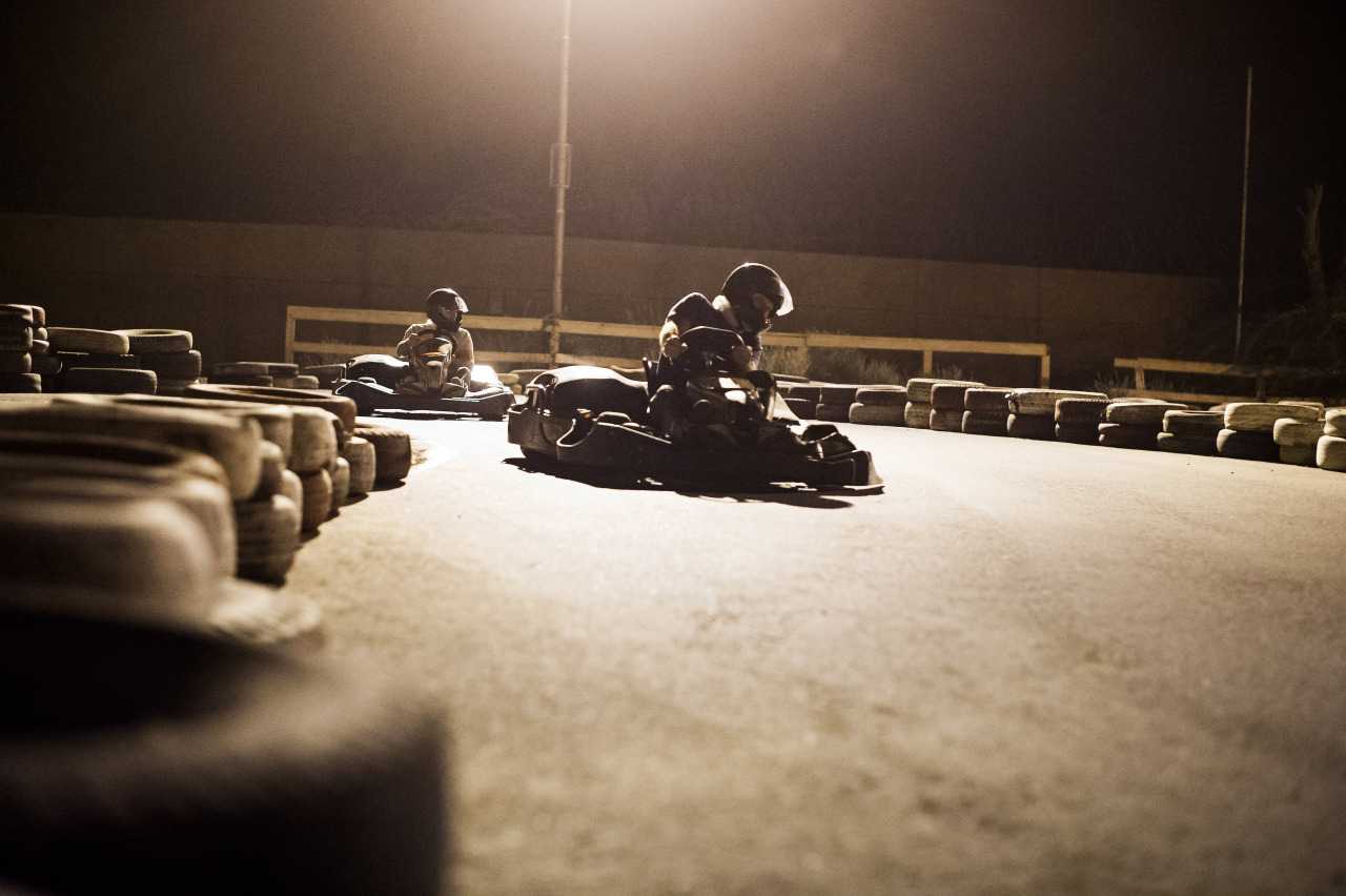 Went to a local kart track with a group of French officers. Probably the best time I have had this deployment. The karts are very quick and nimble, not like the toys back in the States. You have to watch your speed, braking and cornering very closely or you will end up in a barricade.