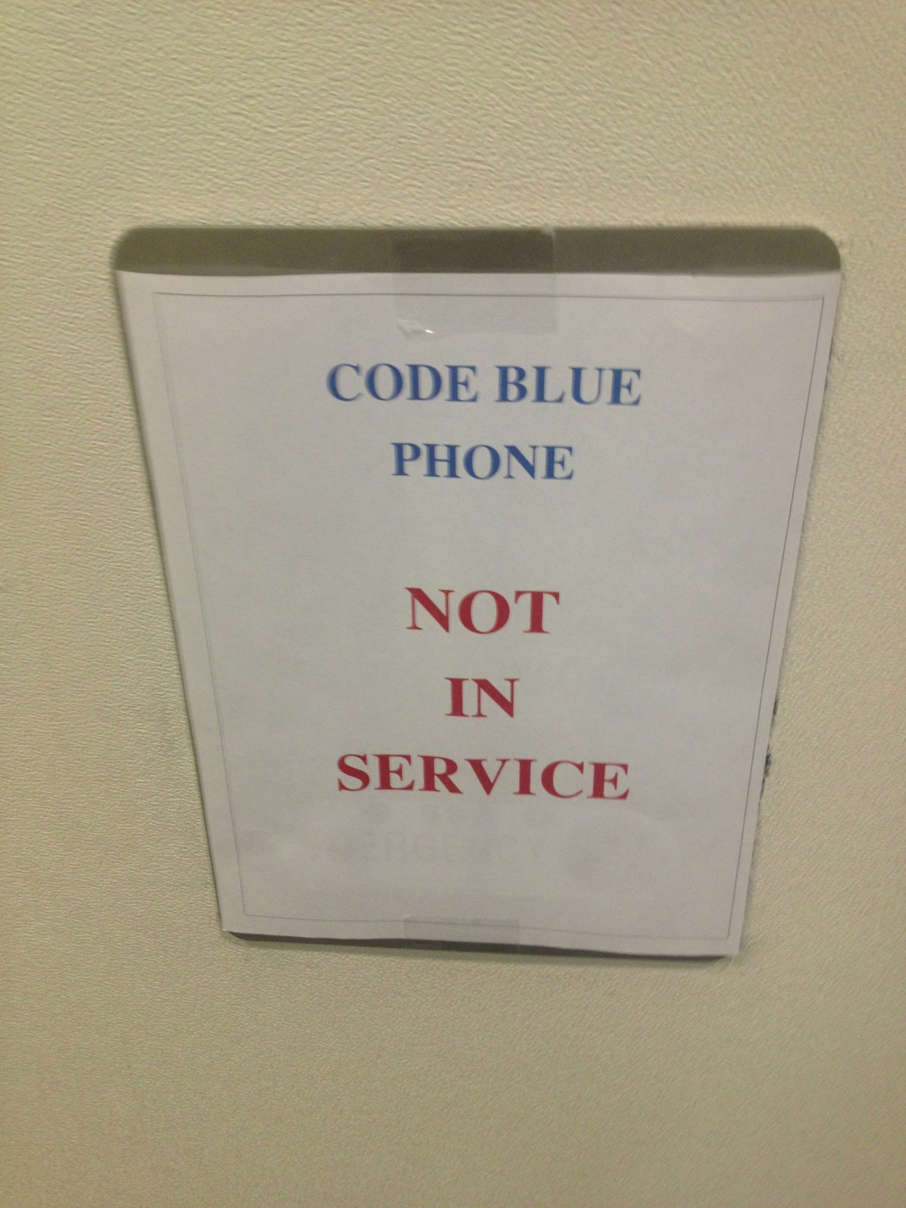 What is code blue, and why did it have a phone?
