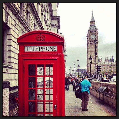 Two #london #landmarks #telephone #history #tourism #sightseeing #clocks #bigben (at Parliament Square)