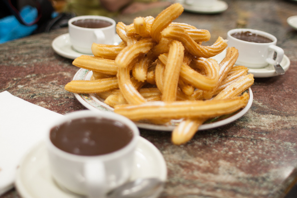 vintagefoods: Churros con Chocolate (by toolmantim)
