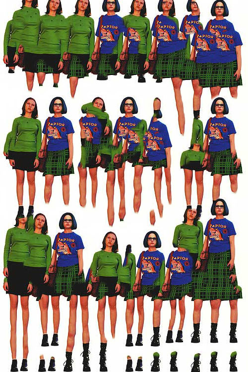 "Collage made from the movie poster for "" Ghost World"""