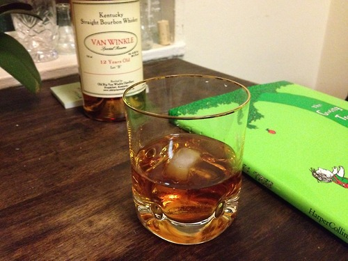 First glass out of my Van Winkle 12 year old. One ice cube.