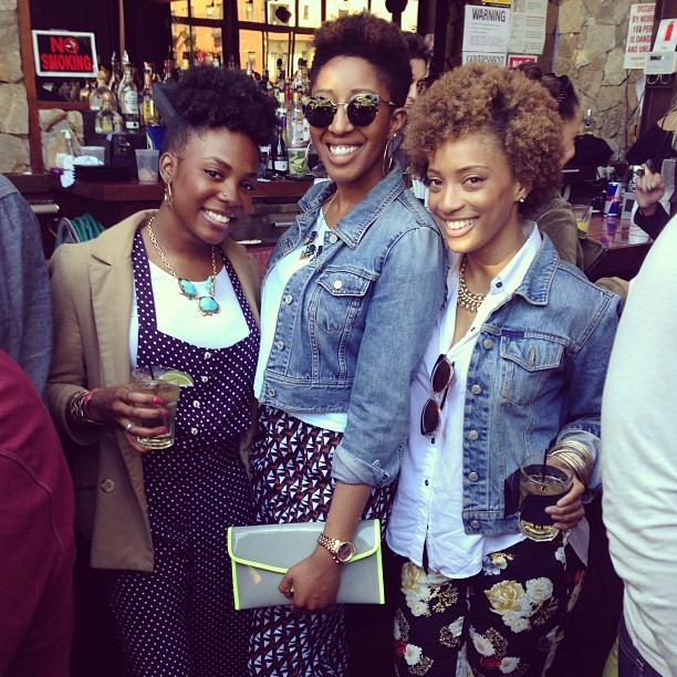 My frans! @tloui @katrinabello! Missing @shawnacorso #naturalhair #nyc #brunch #everydaypplnyc #everydaypplbrunch  (at The DL)