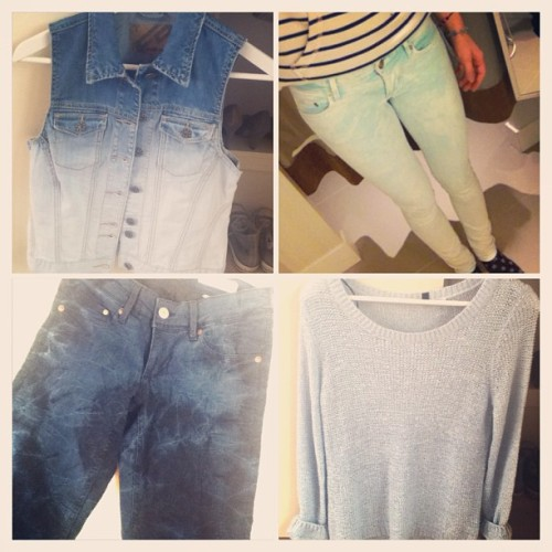 #new #clothes #bought #yesterday #at #city #jeans #sweater #like #blue #white