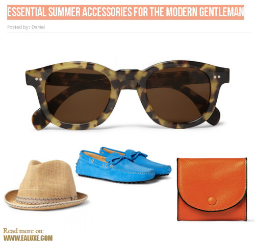 Essential Summer Accessories for the Modern Gentleman | Article written by our new partner: Daniel | evia-n.tumblr.com ( Check out his blog )